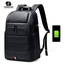 Fenruien marque étanche 15.6/17 pouces sac à dos pour ordinateur portable USB charge grande capacité hommes sacs à dos voyage sac à dos de haute qualité