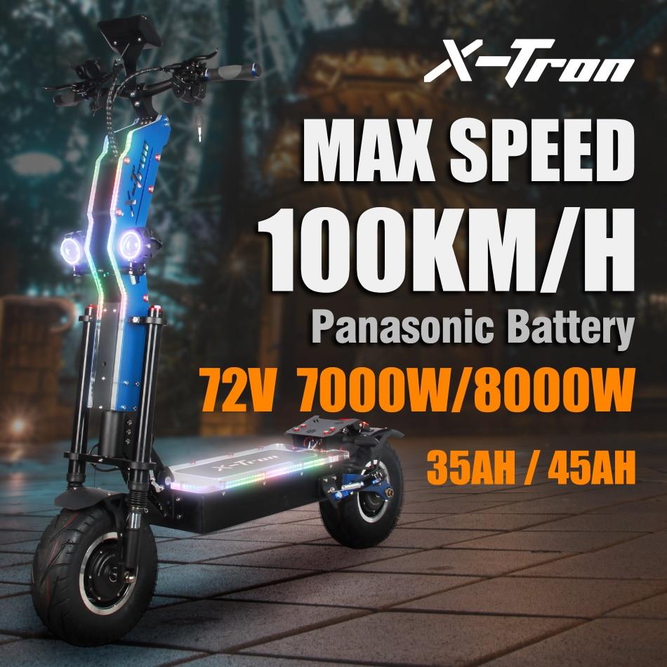 X-Tron فايبر 72 فولت 8000 واط 100 كجم/ساعة سكوتر كهربائي 120 كجم المدى 13
