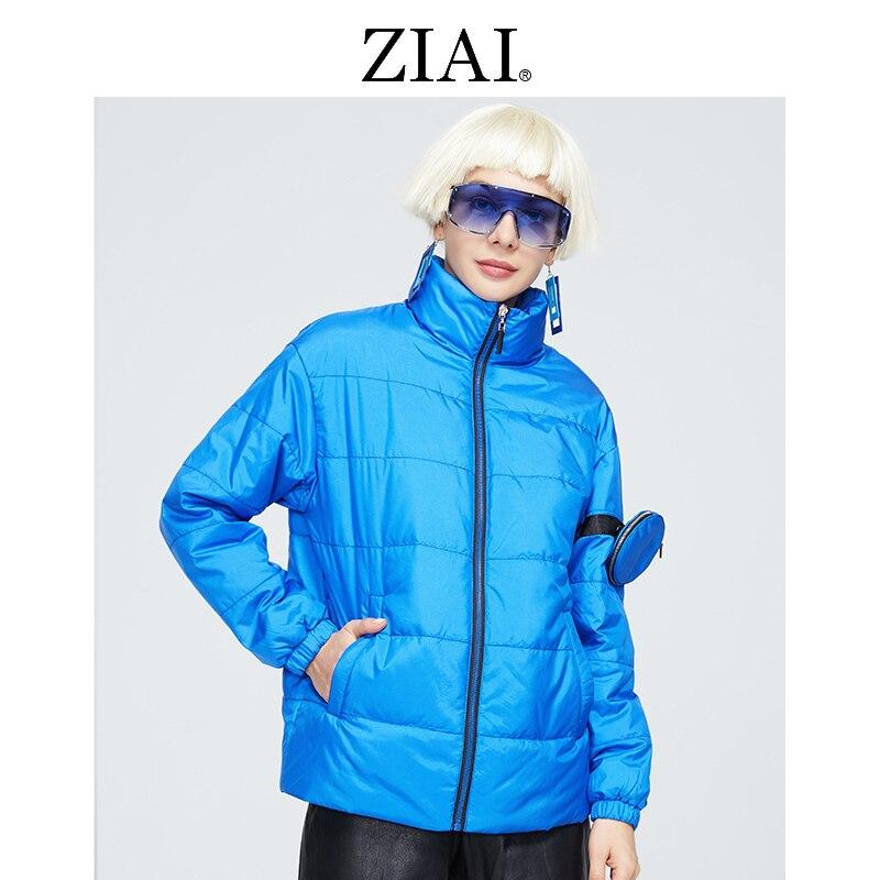 ZIAI سترة ربيع الخريف 2021 مجموعة المرأة معطف الذراع حقيبة تصميم قصيرة سترات المرأة رقيقة القطن أبلى ZM-8763