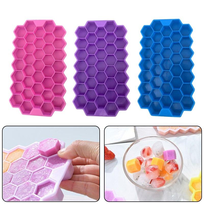 Bandeja de cubitos de hielo de grado alimenticio, molde de cubo de...