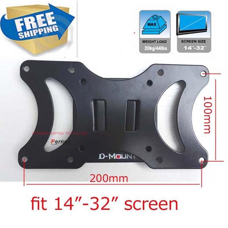 LCD-2 20кг vesa 200х100 фиксатор ТВ Настенный Кронштейн для ТВ 10