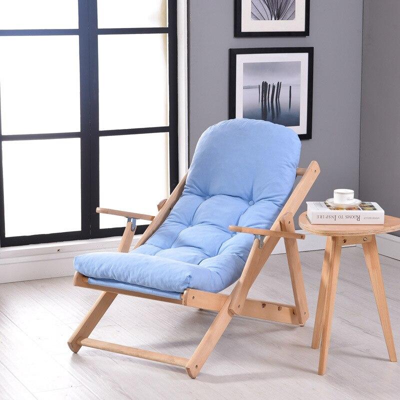 Мягкое и удобное ленивое кресло деревянное складное для отдыха обеда балкона