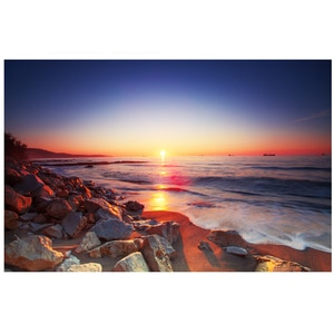 Colorful print Beach sunrise/sunset Wall Tapestry Wall Hanging Psychedelic Tapestry Decor for Bedroom Living Room M984