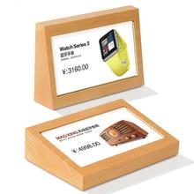 150*100mm bois massif acrylique prix papier étiquettes signe support support Table affiche photo Menu affichage cadre