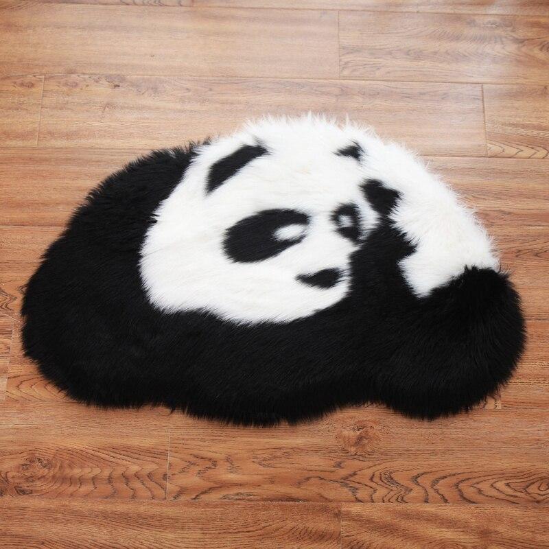 Desenho animado bonito panda tapete tapete macio macio tapetes macios anti-skid shaggy área tapete sala de jantar tapete casa quarto