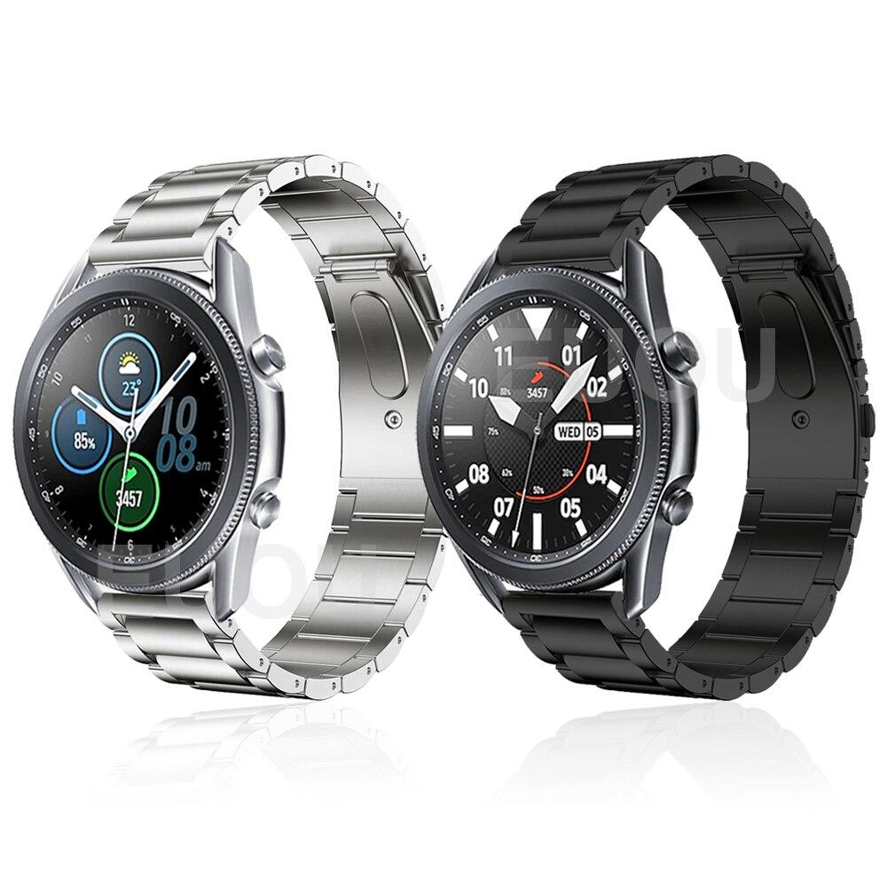 Titanium Strap For Samsung Galaxy Watch 3 45mm / Galaxy Watch 46mm / Gear S3 Smartwatch Band Watchband Metal Bracelet ремешок