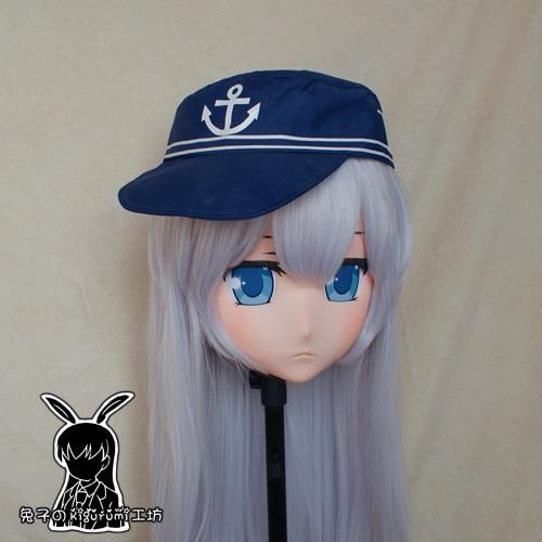 (Rb106) artesanal feminino/menina resina japonês personagem dos desenhos animados anime cosplay kigurumi máscara crossdress transgênero boneca máscara