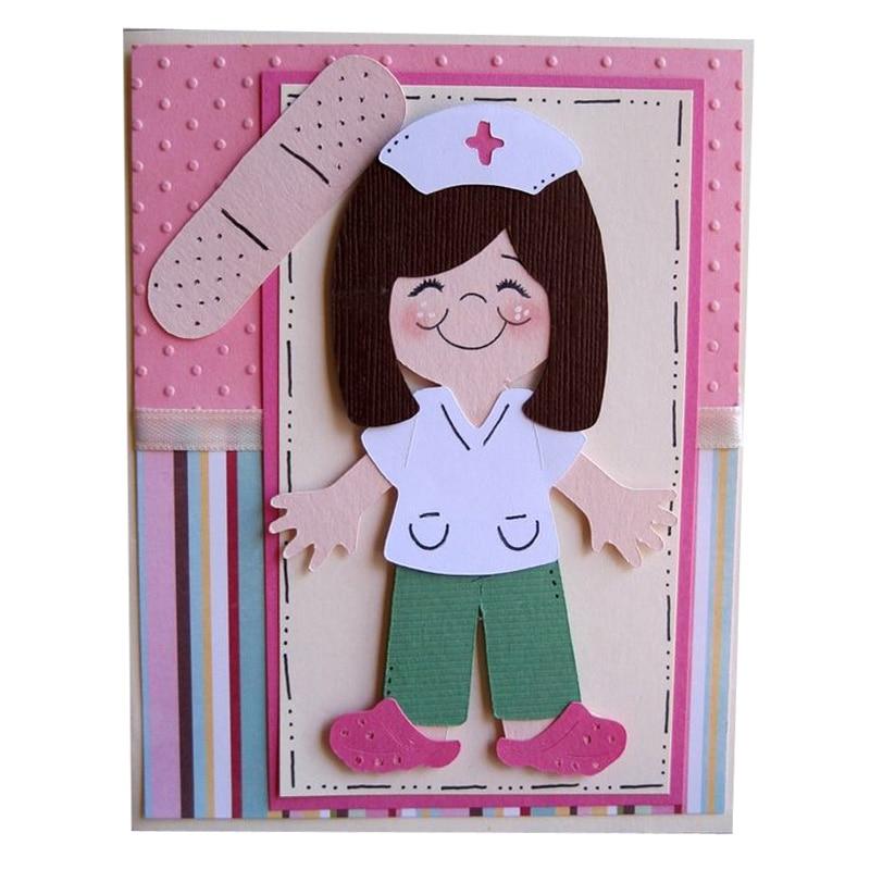 Nuevos troqueles de corte de Metal enfermera 2020, troquelado de Arte de colección de recortes, troquelado, Marco cosido, troqueles para hacer tarjetas