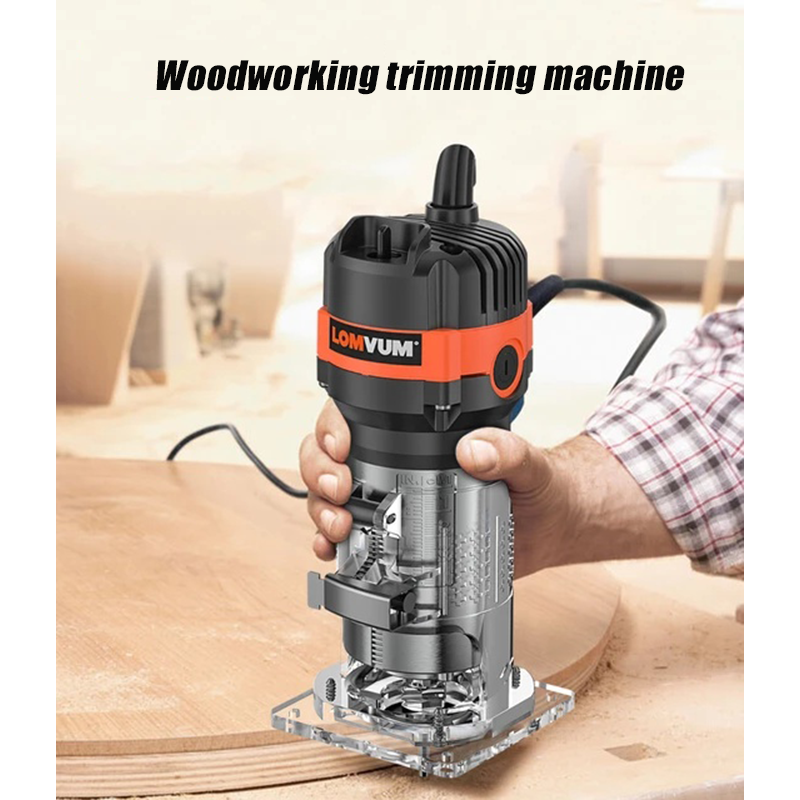 Electric wood trimmer, engraving machine, wood milling cutter, trimming, slotting and cutting, power tools 220V