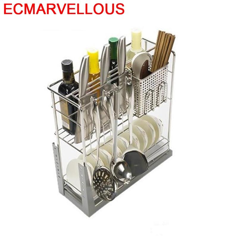 Organizador de vajilla de acero inoxidable, Organizador de Cocina, Armario, cesta de...