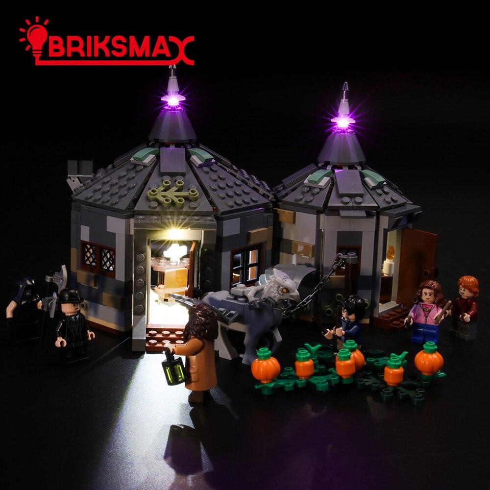 Kit de luz Led BriksMax para la cabaña de Hagrid Juego de iluminación de ladrillos de rescate de Buckbeak Compatible con 75947 (no incluye el modelo)