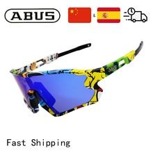 ABUS Cycling Polarised Glasses MTB Sports Bike Photochromic Eyewear Bicycle Sunglasses Outdoor For M