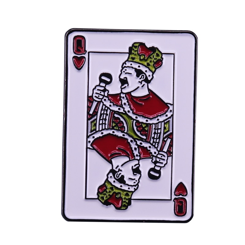 Freddie Mercury - Queen of Hearts Badge Music Fans Flair Art Collection