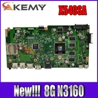 akemy new x540sa motherboard for asus vivobook x540sa x540s f540s laptop motherboard w n3160 8gb ram tested 100 mainboard