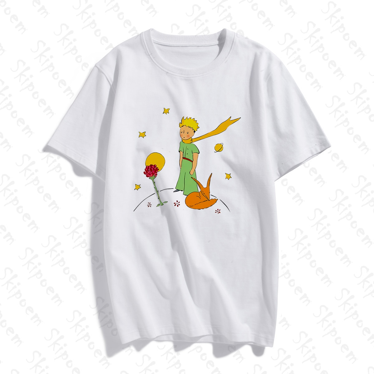 Женская футболка «Маленький принц», новая хлопковая Милая футболка, женские летние топы Harajuku, повседневные винтажные Большие размеры, панк