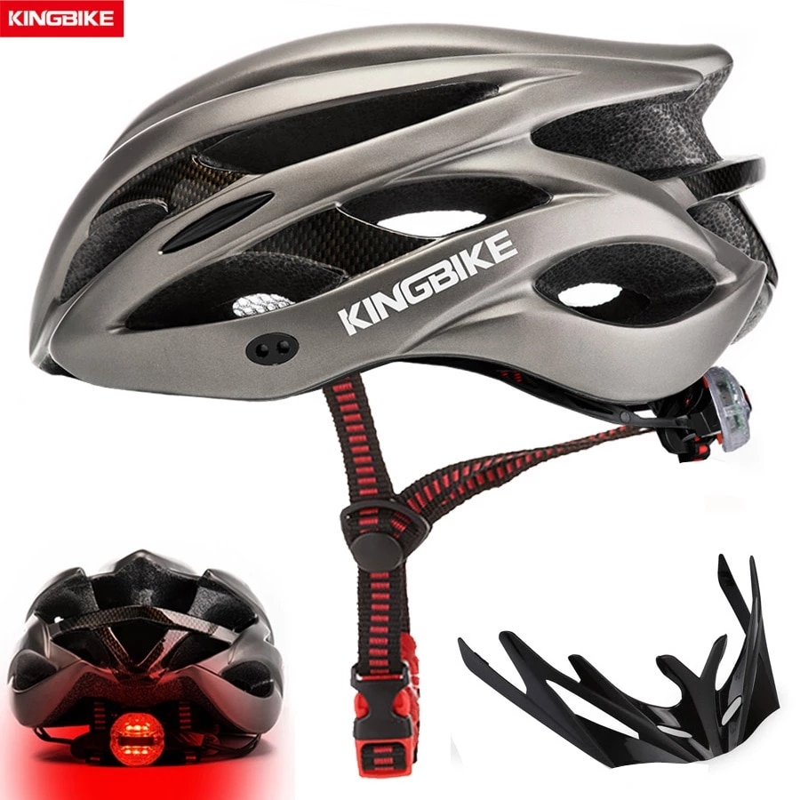 KINGBIKE-Casco de Ciclismo ultraligero para hombre, color negro mate, para Ciclismo de...