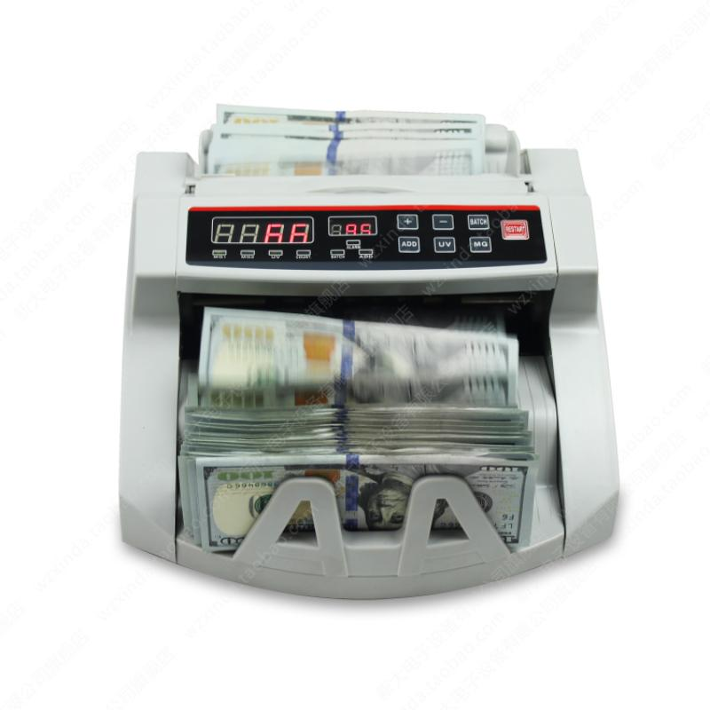 Money Bill Counter 1000 PCS/min 80W Currency Cash Counting Machine UV MG Counterfeit Detection with LED Display enlarge