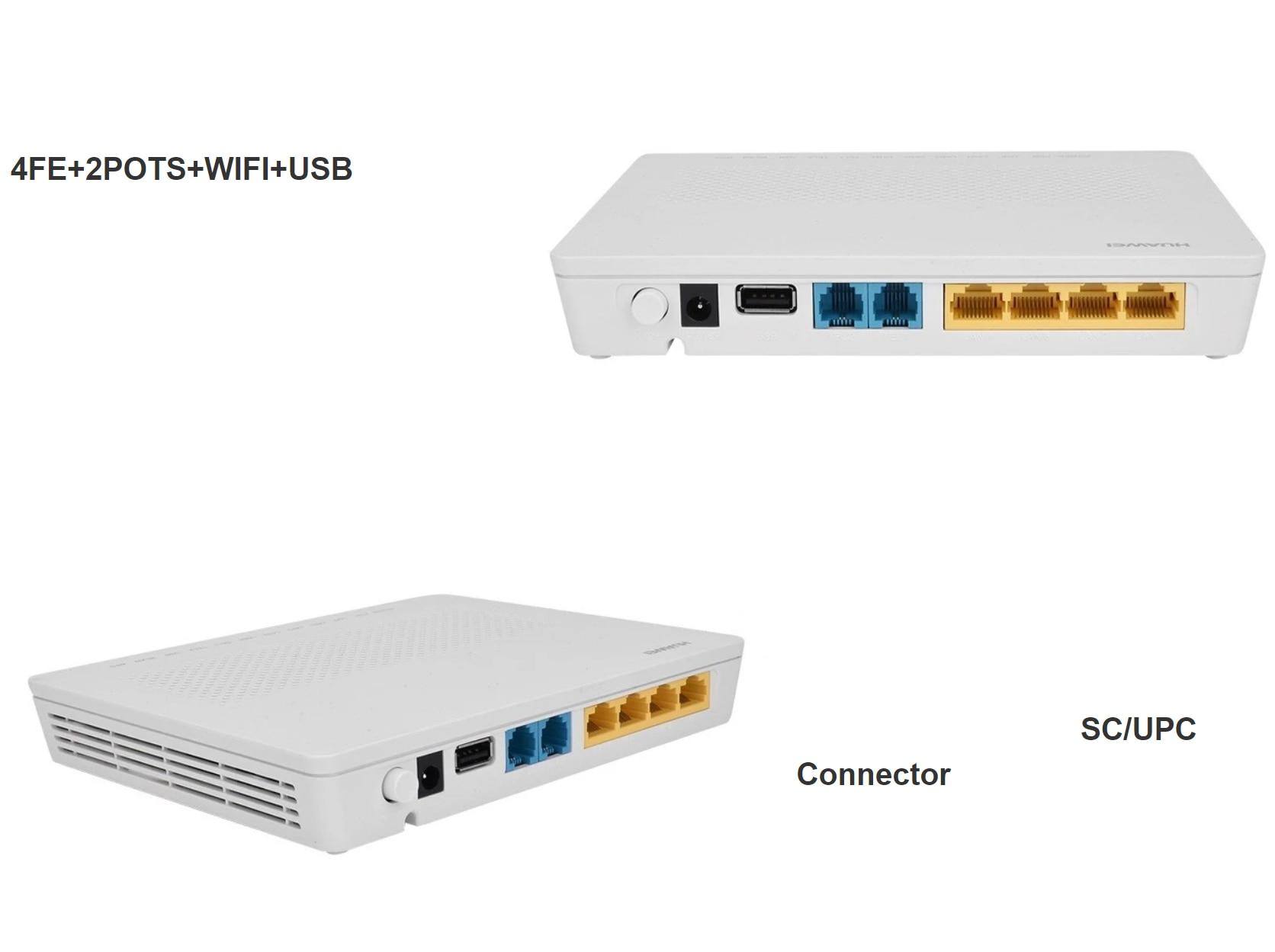 5pcs 10/pcs Lot HG8346M 8245A 4FE +2POTS +WiFi EPON GPON XPON Refurbished Huawei ONU FTTH Eng OS Mordem Router Fire to the home