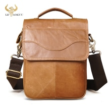 Soft Genuine Real Leather Male Fashion Tote Messenger bag Design Satchel Crossbody One Shoulder bag