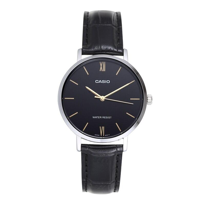 Relógio de Negócios Casio Simples Cinto Moda Metal Quartzo Relógio Feminino Ltp-vt01l-1b