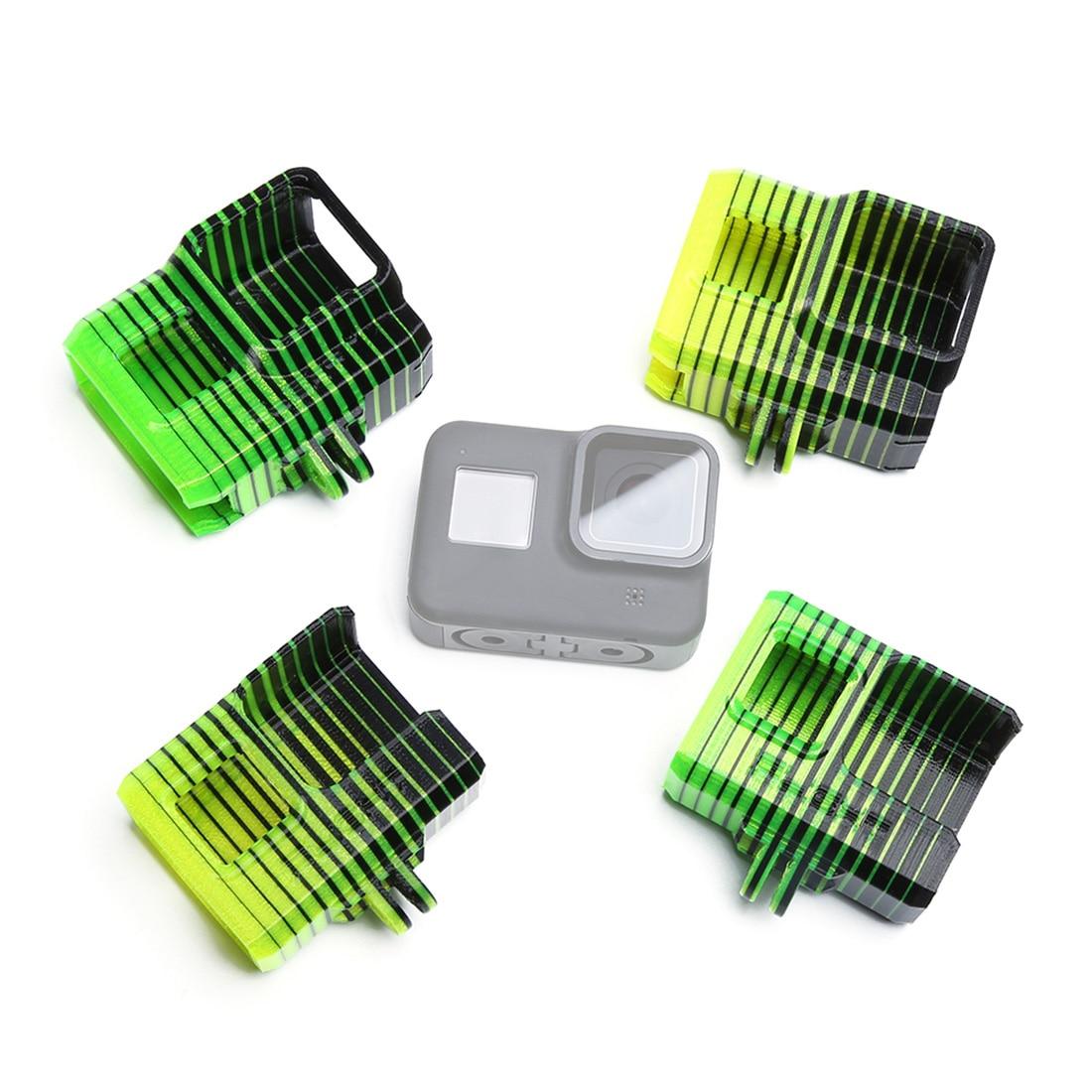 IFlight adaptateur de montage GoPro réglable en TPU 0-60 degrés pour Gopro Hero 5/6/7 pour les pièces de bourdon frelon vert/Nazgul5 XL5