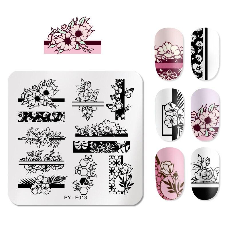 PICT You квадратные штампованные пластины для ногтей, идеи для дизайна ногтей, трафареты для дизайна ногтей, сделай сам, шаблон для дизайна ногтей, инструменты из нержавеющей стали