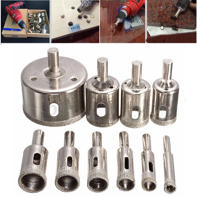 10 шт./лот электрическое сверло алмазное покрытие аксессуары для электроинструментов для мрамора со стеклокерамическим электродом кольцев...