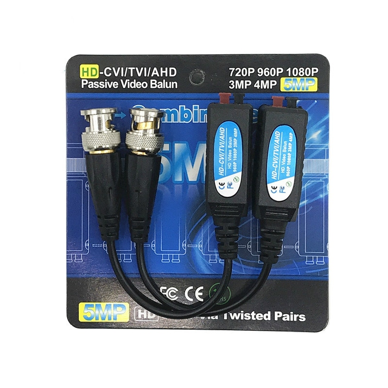 10 Pairs Twisted Pair Cable For 5MP Surveillance Camera Video Balun CCTV Passive Transceivers UTP Balun BNC enlarge