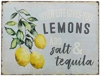 smartcows retro tin metal sign 8x12 inches funny fruit lemons vintage home wall decor
