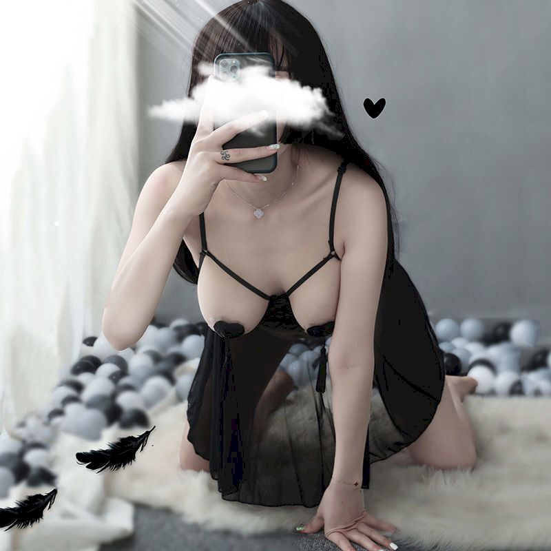 Lingerie Steel Support Pajamas Large Size Super Passionate Students Breast Mesh Lace Sexy Dress Erot