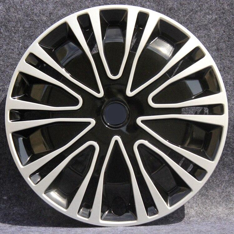OHANEE coche tapacubos para llantas 16 pulgadas Universal de coche rueda de hierro tapas Centro de Auto reparación accesorios (4 uds)