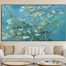Impressionniste fleur damandier fleurs Van Gogh peinture à lhuile sur toile affiches imprime mur Art photos pour salon décor