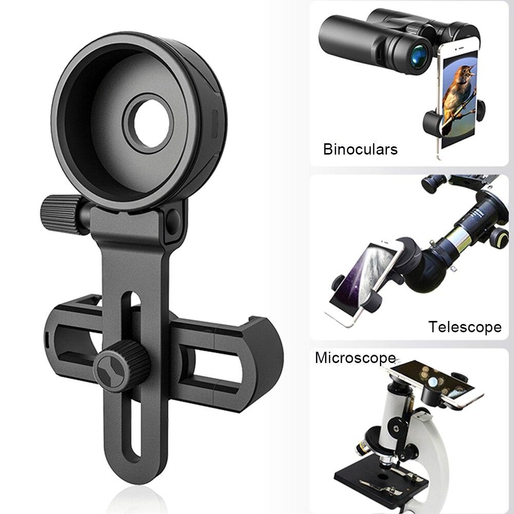 Actualización telescopio binoculares especial accesorios adaptador Clip conector soporte para teléfono móvil...