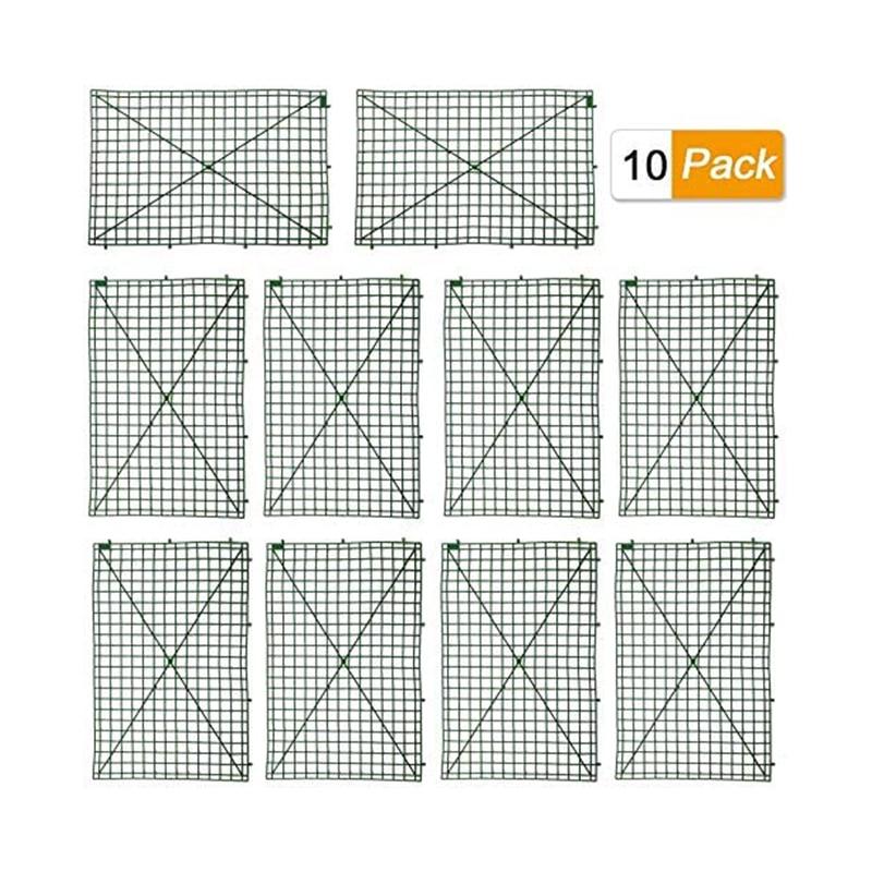 10 قطعة الشبكة جدار مصنع إطارات ، البلاستيك إطار للزهور جدار الأقواس خلفية DIY ديكور الأسوار لوحة عرض الحائط