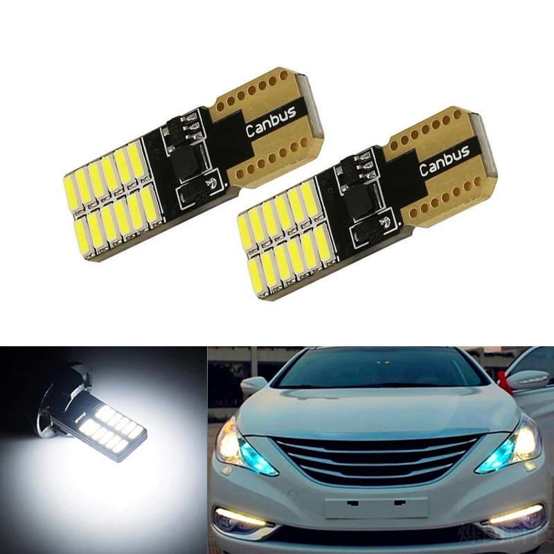 2X T10 LED W5W Samsung Автомобильные светодиодные лампы для Hyundai solaris accent i30 ix35 i20 elantra santa fe tucson getz