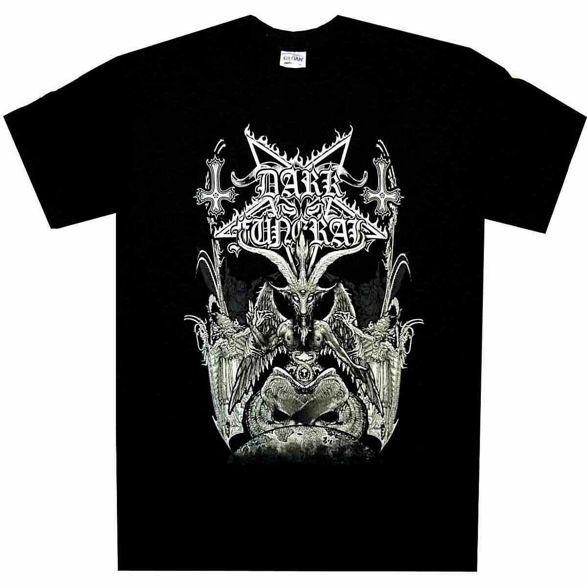 Camiseta negra de Metal Ofcl de M-3XL con el trono oscuro de EE. UU.