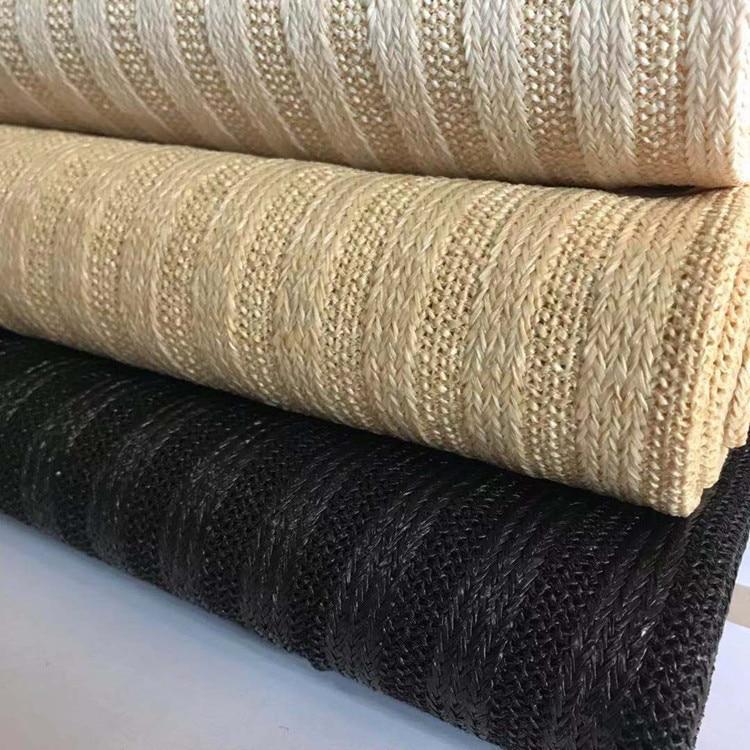 Saco de praia das mulheres de diy material de sapatos de palha tecido de palha de rattan