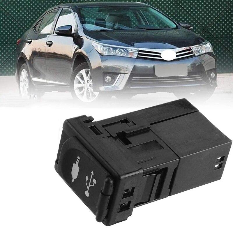 Coche AUX Puerto USB adaptador Jack Auto para Toyota Rav4 Camry para Yaris para Corolla Avalon 86190-0R010 plástico negro