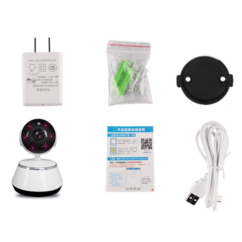 Minicámara IP con WiFi y Monitor de bebé, cámara de seguridad inteligente...