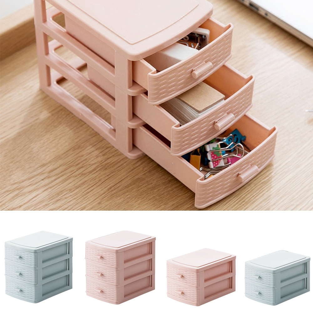 Mini High Quality Storage Drawer Plastic Cosmetic Makeup Container Organizing Box Multifunction Desktop Storage Box For Home