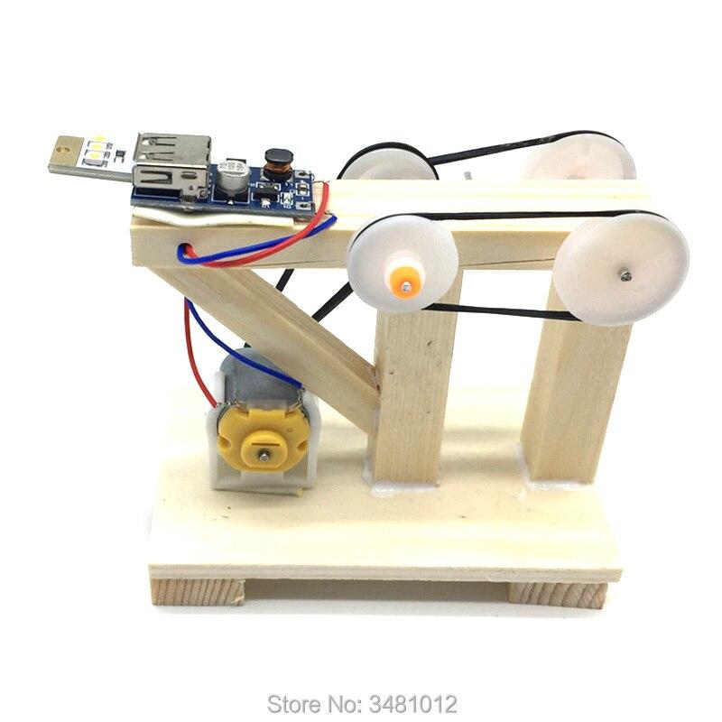 Caule diy gerador elétrico ciência experimento kit conjunto de construção eletrônica brinquedos física educacional para crianças 6 8 anos