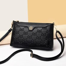 Womens PU Leather Crossbody Bag Wallet Phone Bag With Detachable Strap