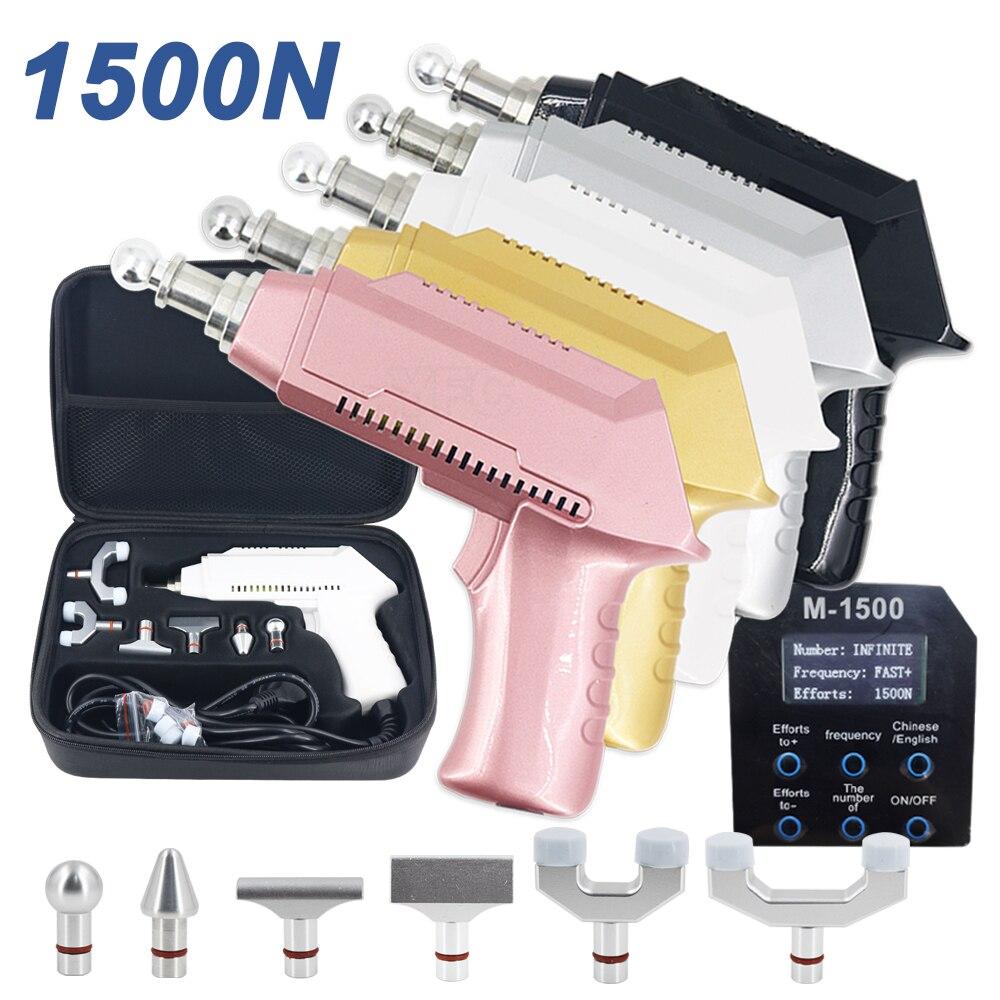 2021 بتقويم العمود الفقري تعديل أداة تصحيح الكهربائية بندقية تعديل كثافة العلاج 1500N المنشط مدلك جديد