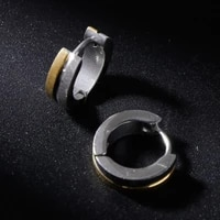 ear stud fashion round stainless steel men women jewelry earrings charms silver gold simple stylish wedding casual gifts e56a