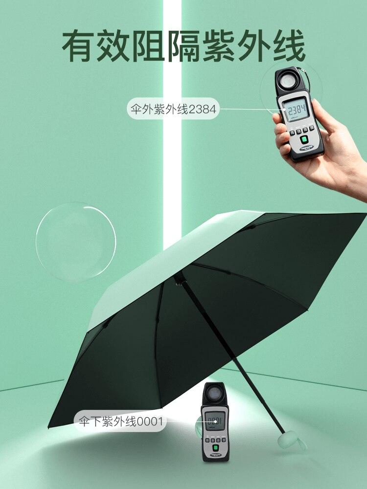 Sun Female Umbrella Compact Portable Sunscreen Anti Ultraviolet Umbrella Manual Folding Waterproof Sombrilla Rain Gear AG50ZS enlarge