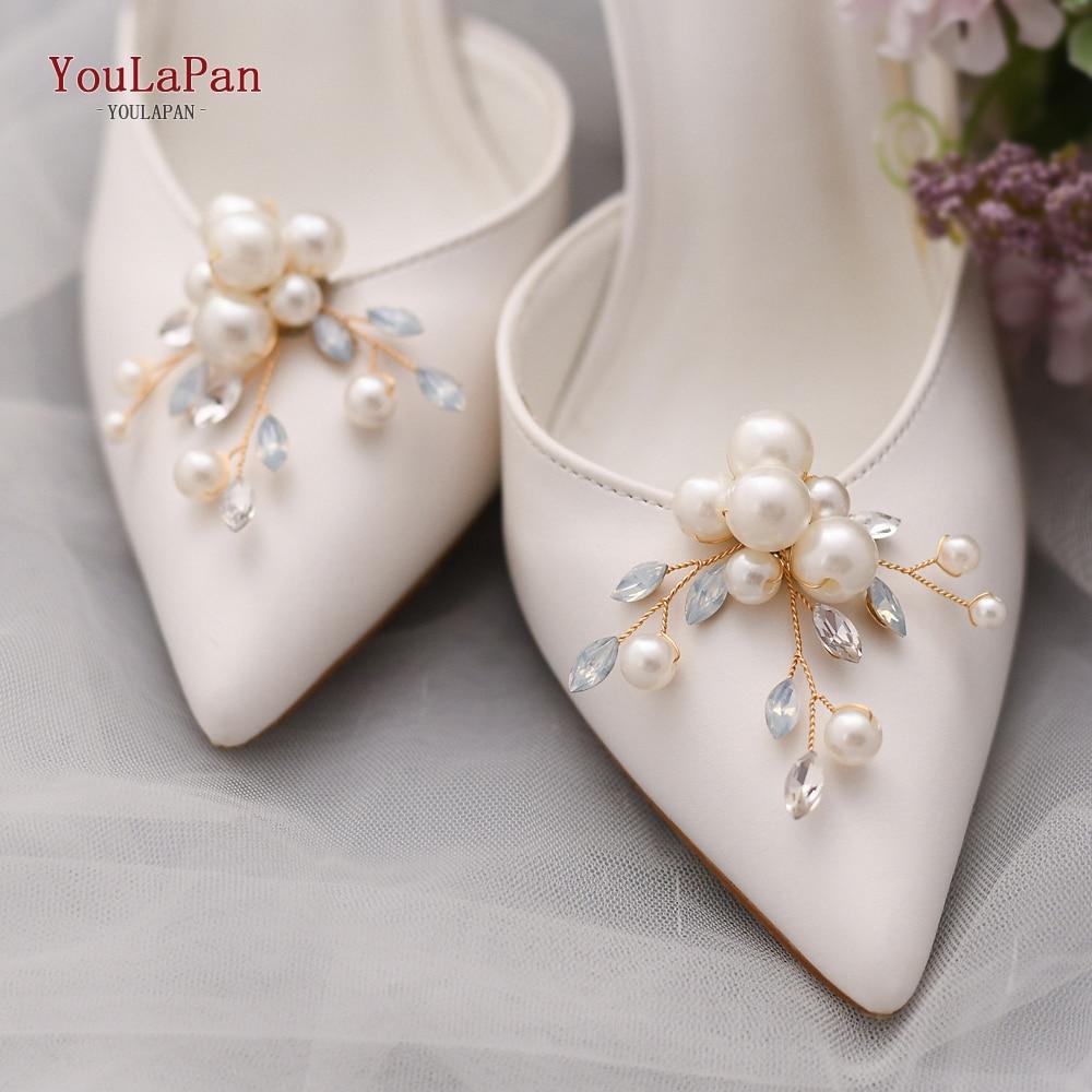 TOPQUEEN X24 2pcs Fashion Shoe Clip DIY Rhinestone Decoration Women High Heels Buckle Shoe Accessories Wedding Shoes Buckle
