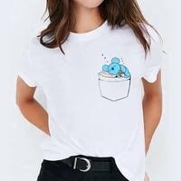 female t shirt cute koala t shirts funny top cartoon t shirt 90s girls harajuku graphic tshirt white short sleeve t shirt women