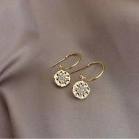 2021 new fashion crystal geometric circular drop earrings sweet fresh senior stars modelling joker women earrings jewelry