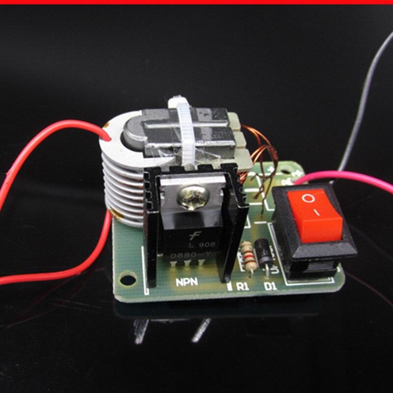Inversor de alto voltaje de 15KV, módulo de bobina de arco de encendido con generador de CC de frecuencia, Kit DIY 18650, conjunto de transformador de núcleo U de 3,7 V