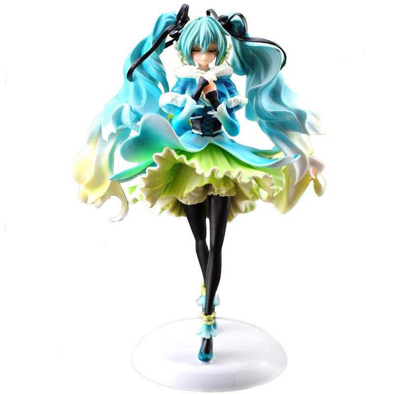 Vocaloid nieve-En-Verano Miku Anime japonés, figuras de acción figuras de Pvc modelo colección para niñas niños, novios regalo de los niños